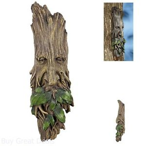Image Is Loading Whimsical Tree Face Sculpture Hanging Garden Wall Outdoor