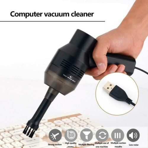 USB Mini Vacuum Cleaner Electric Handheld Dust Clean For PC Keyboard Portable