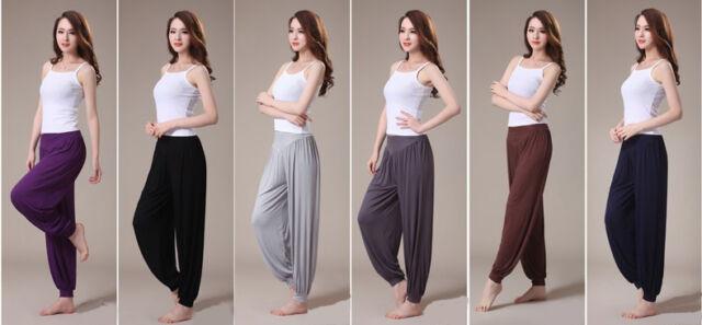 Women Harem Loose Long Pants Yoga Dance Belly Dance Casual Boho Wide Trousers