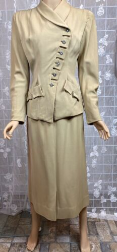"True vintage 1940's lady's tailored khaki ""Victory"