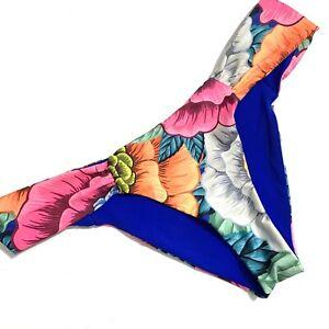 Mara-Hoffman-Side-Ruched-Floral-Bikini-Bottom-Size-Large