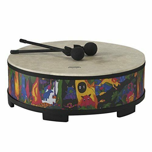 Remo KD-5822-01 Kids Percussion Gathering Drum - Fabric Rain Forest, 22