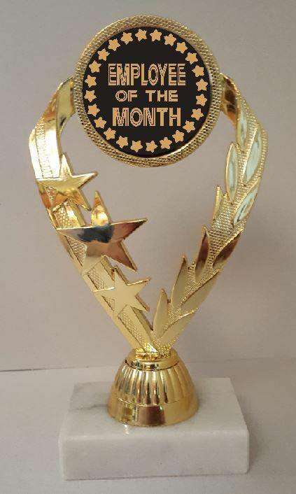 Employee of the Month Trophy 7-1 4  Tall  AS LOW AS  3.99 each FREE SHIP T02N11