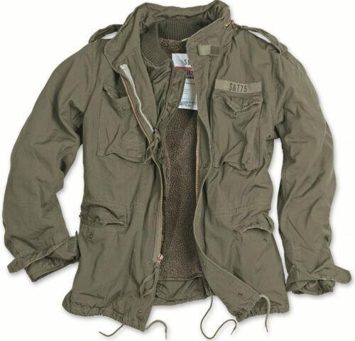 Liner Regiment Olive Vintage Jacket Military M65 Fleece Style Surplus Trapuntato 5qx8t