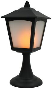 27cm-Tall-Led-Battery-Operated-Flickering-Candle-Lantern-Black-Dinner-Candles