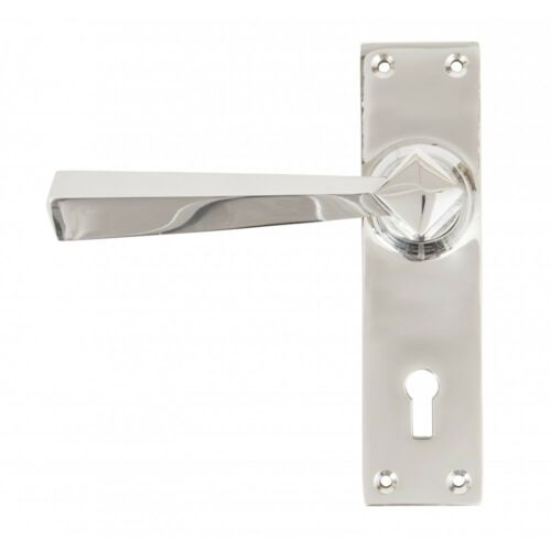 ATC ANVIL 83830 POLISHED CHROME STRAIGHT LEVER LOCK SET TRADITIONAL PERIOD