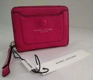 dcffed079c9d Image is loading Marc-Jacobs-Empire-City-Leather-Zip-Wallet-Carnation-