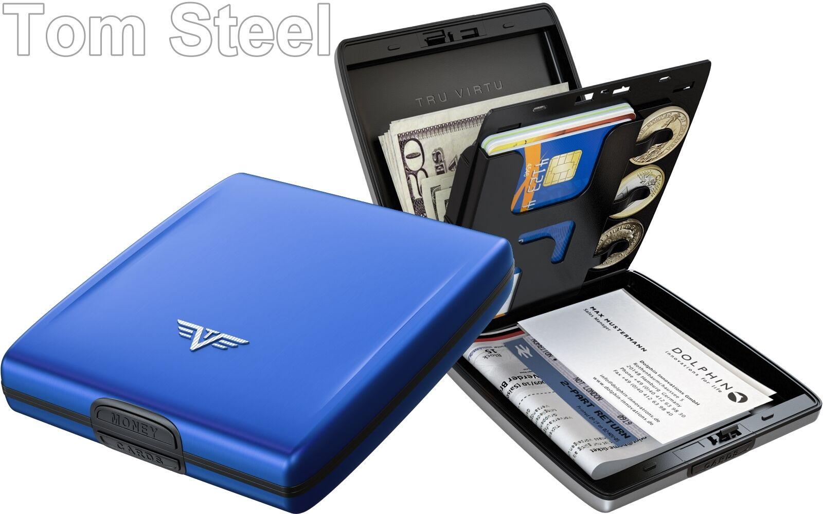 TRU VIRTU Aluminium Portemonnaie Portemonnaie Portemonnaie - Geldbeutel RFID Geldbörse Etui Geldtasche NEU   eine breite Palette von Produkten  c831d2