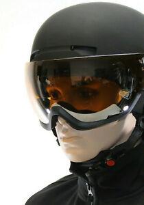 Visier Skihelm ALPIN PRO L XL 59 - 62 cm Visierhelm SCHWARZ Helm S2 Tönung