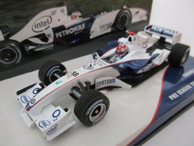 R kubica bmw sauber c24b #38 fórmula 1 test barcelona 2006 1:18 Minichamps