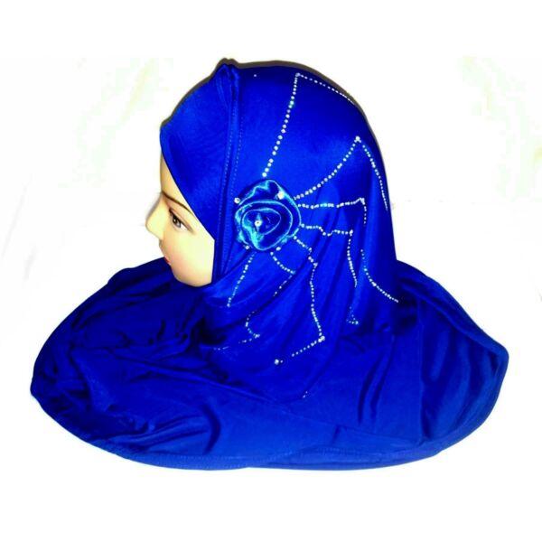 2 Pezzi Foulard Strass Khimar Hijab Scialle Di Preghiera Pardha Niqab Fiore