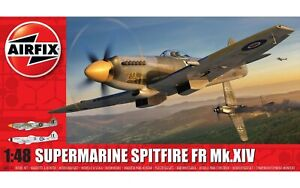AIRFIX-1-48-Supermarine-Spitfire-FR-Mk-XIV-modele-d-039-avion-kit-WW2-avion-A05135