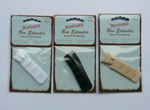 NEW NORTEXX BRA EXTENDER WHITE BLACK OR BEIGE 1 HOOK 19MM