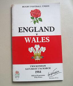 Angleterre-Pays-de-Galles-de-Rugby-Twickenham-mars-1984