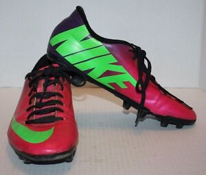 Details about Nike Mercurial Pink Purple Neon Lime Men's Soccer Cleats Size  7 FREE Shipping!!