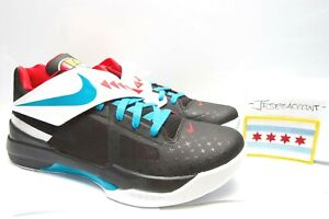 pretty nice 88085 c8e90 Image is loading Nike-Zoom-KD-IV-4-N7-Black-Size-