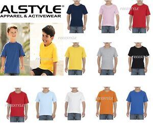 100/% Cotton T-Shirt AL3380 Short Sleeves Top T Shirt Tee Alstyle Toddler 6.0 oz