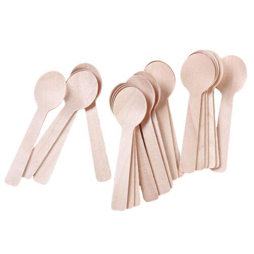 Cuillère en bois jetable crème glacée café Miel Cuillère à café Accessoires Cuisine