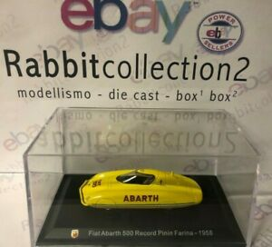 DIE-CAST-034-FIAT-ABARTH-500-RECORD-PININ-FARINA-1958-034-TECA-BOX-2-SCALA-1-43