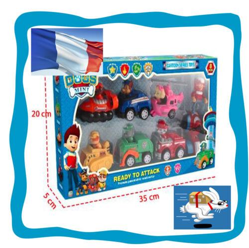 9 pièces figurine jouet pat patrouille patrol chien chat voitures quad enfant