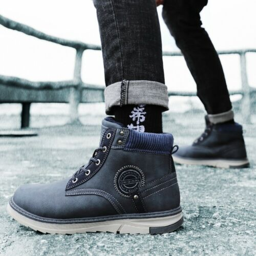 Men/'s Snow Boots Waterproof Winter Warm Cotton Ankle Shoes Casual Hiking Walking