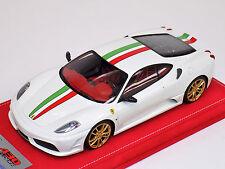 1/18 Looksmart Ferrari F430 Scuderia white Italian stripe gold Wheels Alcantara