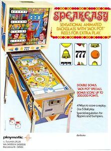 SPEAKEASY PLAYMATIC Pinball machine flyer - Sosnowiec, Polska - SPEAKEASY PLAYMATIC Pinball machine flyer - Sosnowiec, Polska