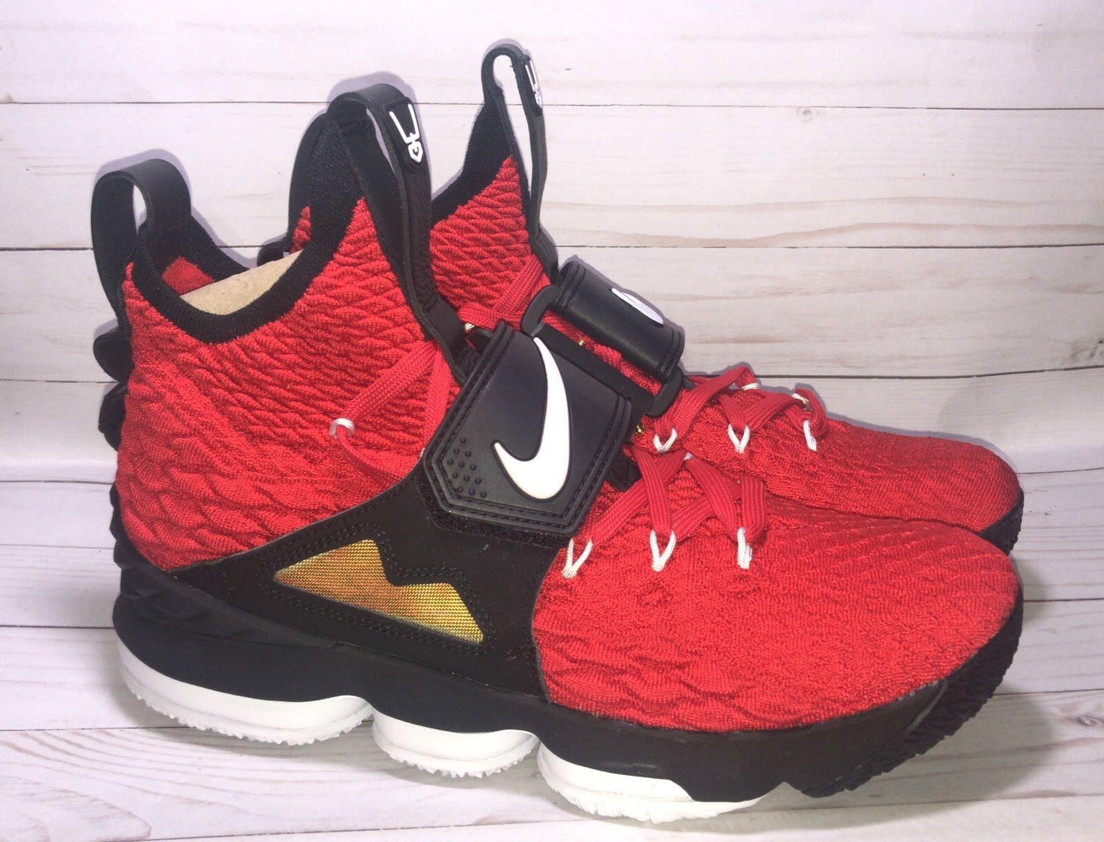 Nike lebron 15 xv prime ROT diamond revier größe 10 ao9144-600 james johnson