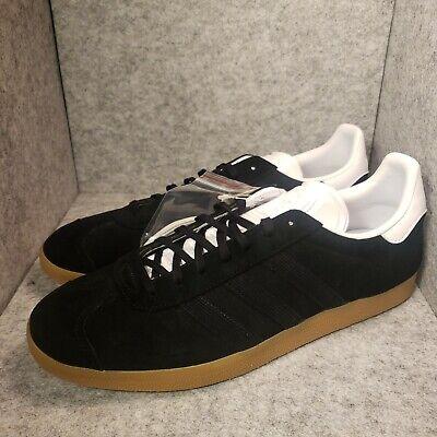 *New* Men's adidas Originals Gazelle Black/Gold/Gum EE5524 Size 13   eBay