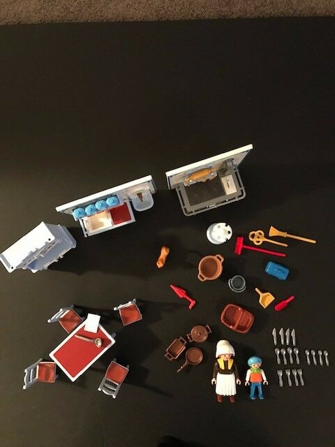Playmobil Kitchen For Victorian Mansion Excellent Pre-Owned