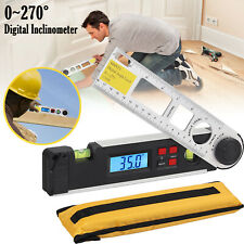 Electronic Digital Lcd Protractor Inclinometer Spirit Level Angle Finder 10 Inch