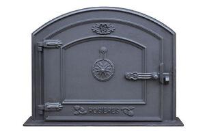 bread oven doors pizza stove fireplace 37 x 31 cm cast iron fire door clay