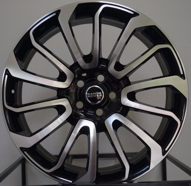 24 Apec Wheels Silver 2 Black Tyres To Fit Range Rover Sport 24inch