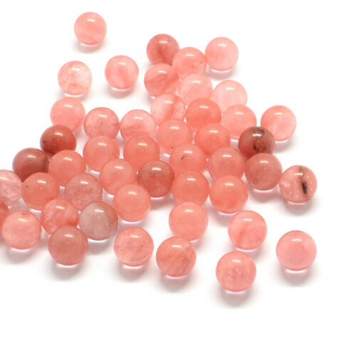 50 Stone Round Ball Beads No Hole Undrilled Smooth Semi Gems Loose Beads 9~11mm