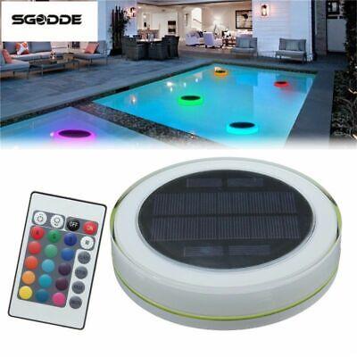Pool Light Solar LED Swimming Pool Pond Outdoor Floating Waterproof Color  Lights | eBay