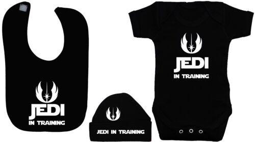rompre Jedi en formation bébé grandir l/'alimentation Bib /& chapeau // bonnet 0-12M STARWARS body