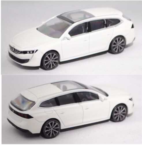 metallic perlmutt weiß 1:64 ca Norev 310908 Peugeot 508 II sw