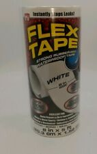 "FLEX TAPE WHITE 8/"" X 5/'  STRONG WATERPROOF REPAIR TAPE  TFSWHTR0805"