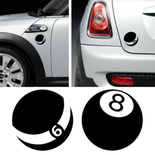 3x MINI COOPER BILLIARD BALL Vinyl Decal Sticker Adesivi Autocollant Pegatina