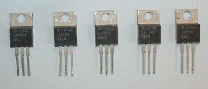 Lot de 5 régulateur LM79M05CT fabriqués par NS : 5 x -5V 0,5A  en TO-220