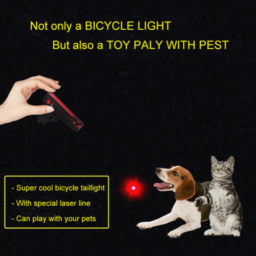 Bike Tail Light Rechargeable Bicycle Laser Rear Lamp Cycling Safety Warning