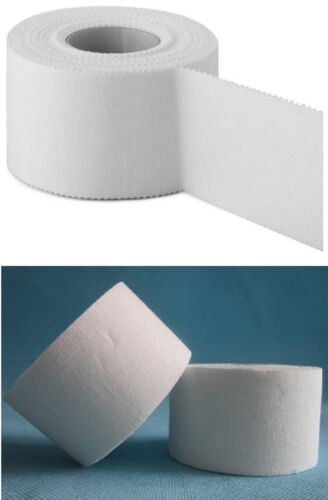 Sport Tape 4er Pack Baumwoll Gewebetape Physio Tape Verband 3,8cm x 10m weiß