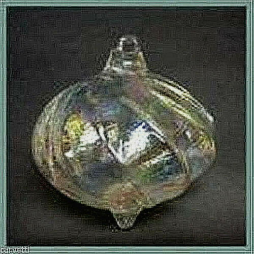 Hanging Glass Clear AB Iridescent Glass Top (1) HB17-2