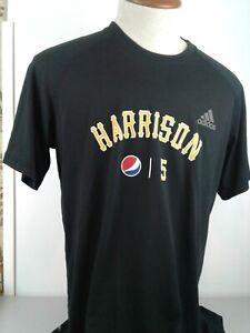 Adidas climalite MLB Pittsburgh Pirates #5 Josh Harrison black SS shirt size XL