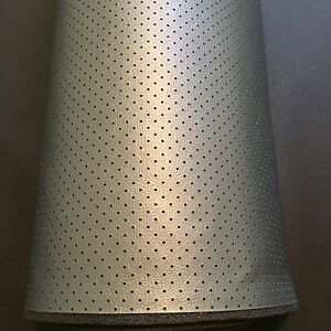 Camaro Silver Blue Foam Backed Perforated Vinyl Headliner