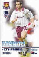 2002/03 WEST HAM UNITED V BOLTON WANDERERS 21-12-02 Premier League (Very Good)