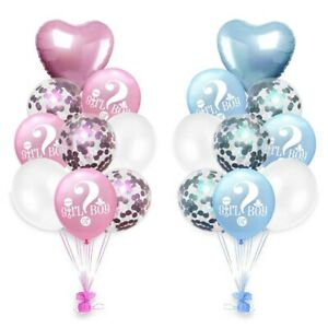 Balloons Decoration Supplies Party Baby Shower GENDER REVEAL HE/SHE NEW Party Supplies