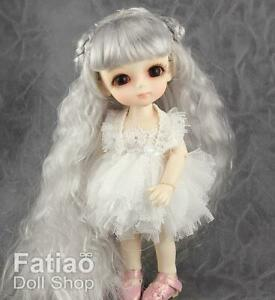 Fatiao-New-Lati-Yellow-pukifee-BJD-Dollfie-Doll-Curly-Wig-5-6-034-Gray