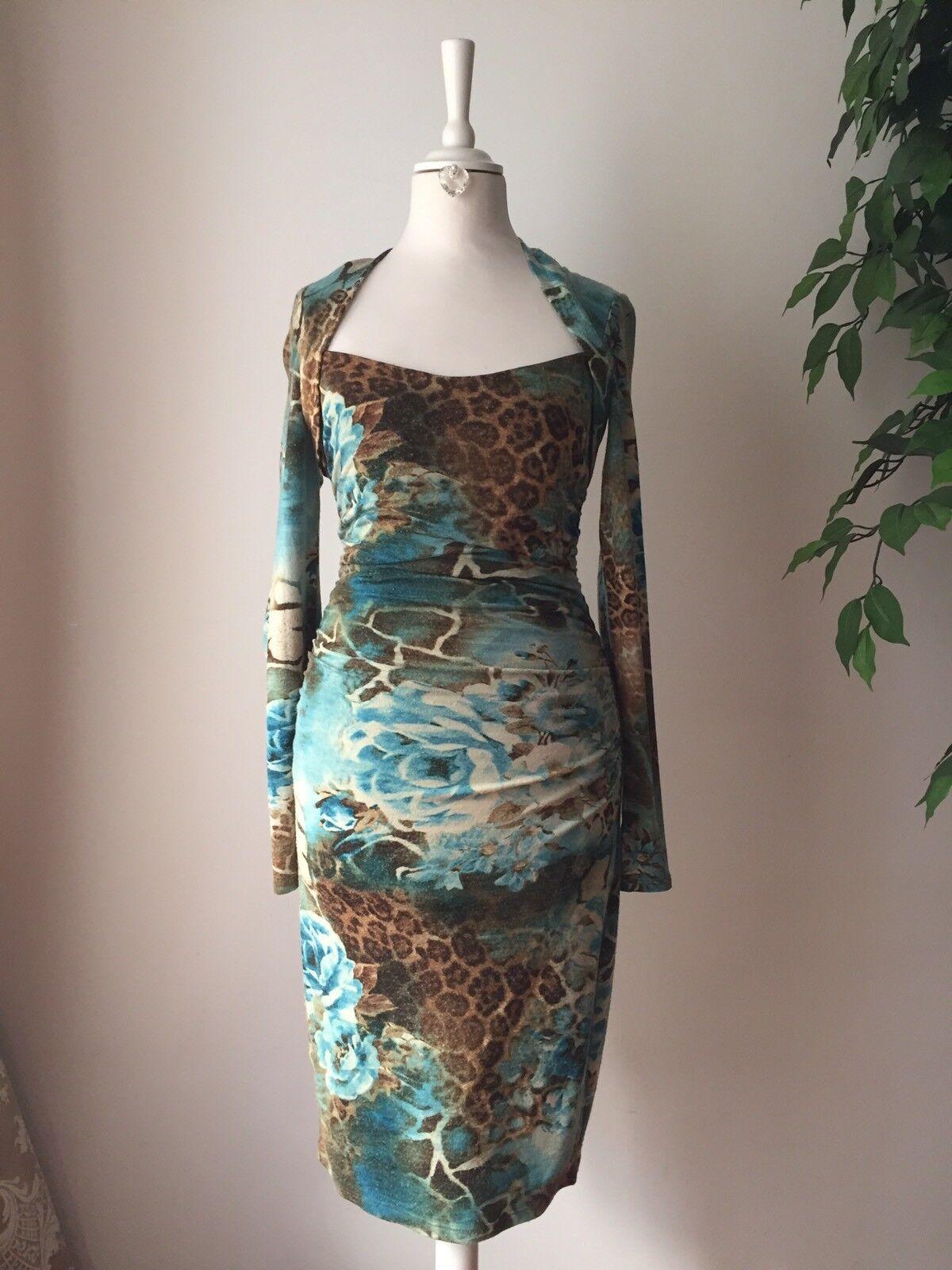 CACHE Damen Kleid Kleid Kleid Hingucker aus USA  Gr. 4  Hochwertig  Mit Unterkleid f3d595