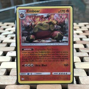 Rare Pokemon Card -Emboar 33/236 (Cosmic Eclipse- 2019) Reverse Holo
